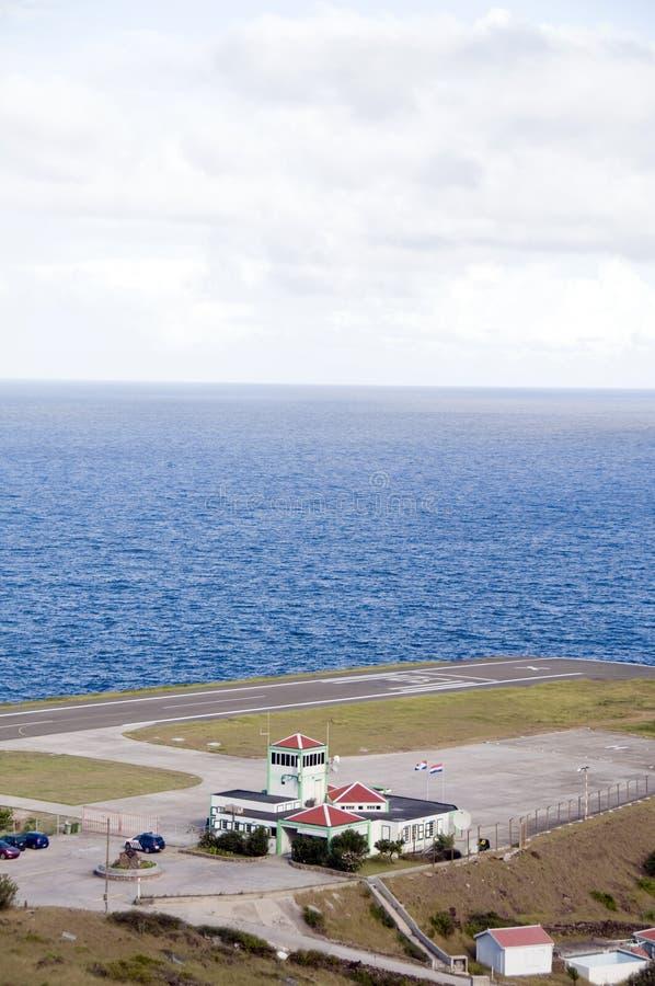 Aeroporto Saba de Juancho E. Yrausquin imagens de stock