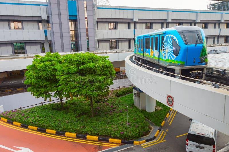 Aeroporto Skytrain Singapore di Changi fotografia stock libera da diritti