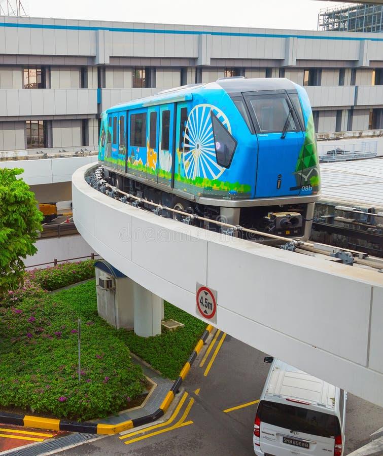 Aeroporto Skytrain Singapore di Changi immagini stock libere da diritti