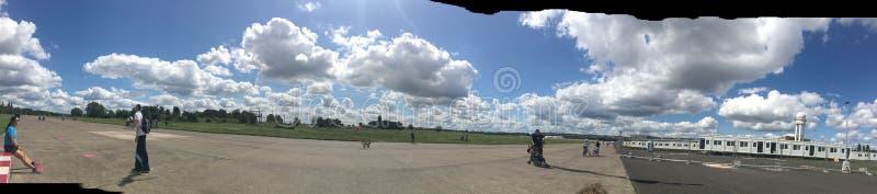 Aeroporto Tempelhof do panorama fotografia de stock