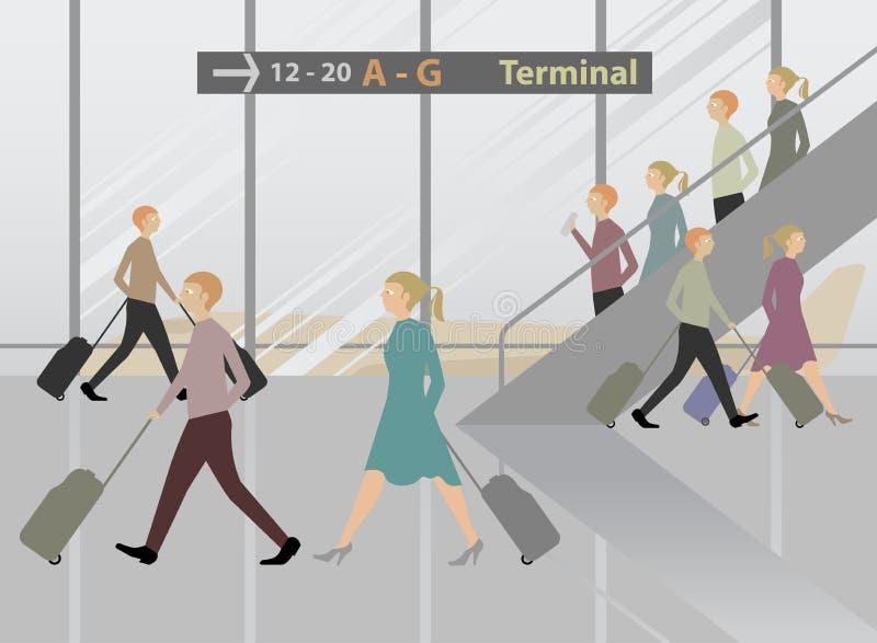 Aeroporto terminal ilustração do vetor