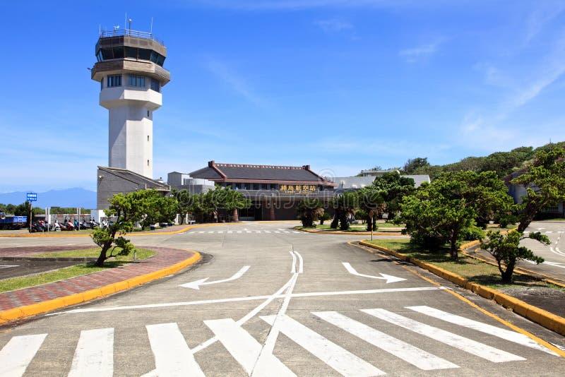 Aeroportos na ilha verde, Taiwan fotografia de stock