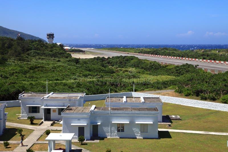 Aeroportos na ilha verde, Taiwan fotografia de stock royalty free