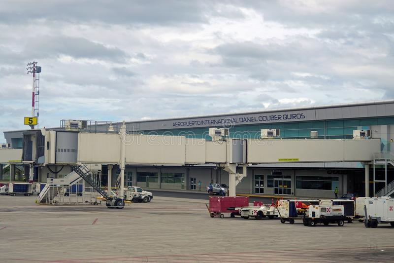 Aeropuerto Daniel Oduber Quiros LIR Międzynarodowy lotnisko w Costa Rica fotografia royalty free
