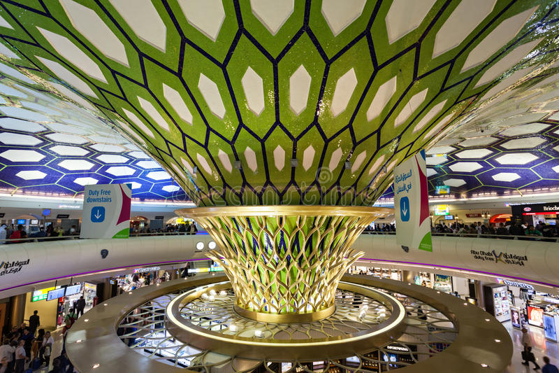 Aeropuerto de Abu Dhabi imagen de archivo