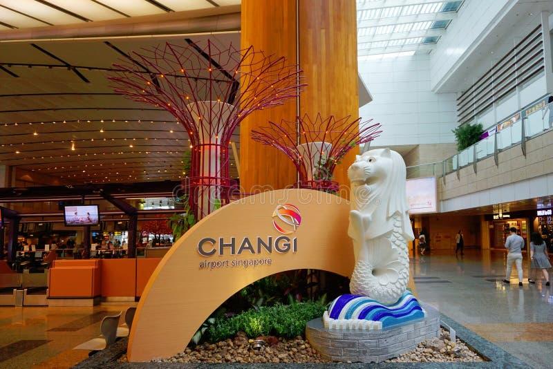 Aeropuerto de Changi de Singapur fotos de archivo