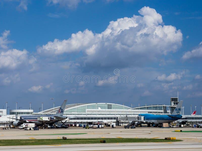 Aeropuerto de Chicago ÓHarez fotografía de archivo libre de regalías
