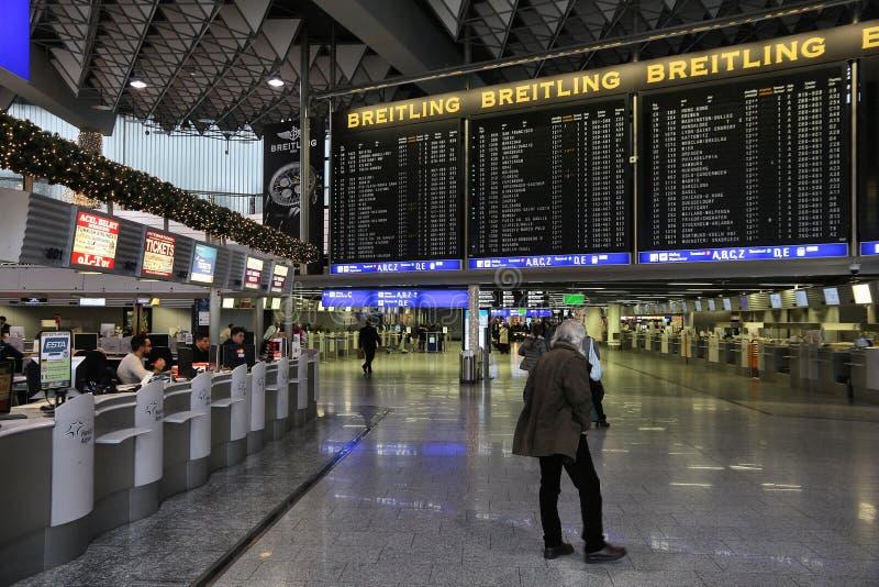 Aeropuerto de Francfort, Alemania foto de archivo libre de regalías