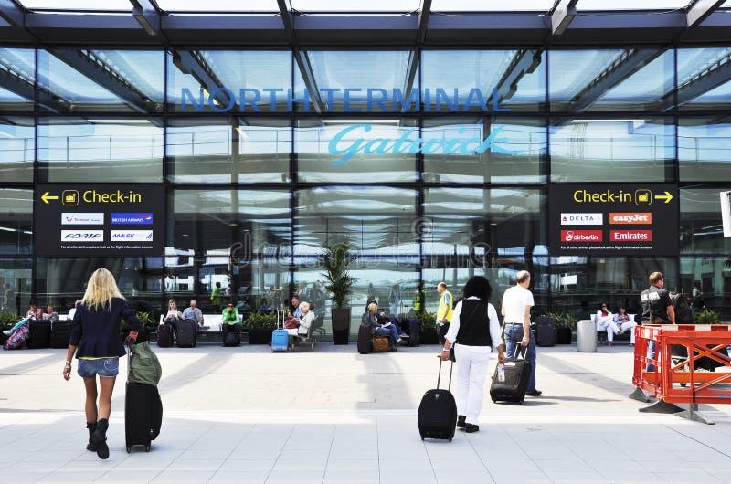 Aeropuerto de Gatwick, Reino Unido fotografía de archivo libre de regalías