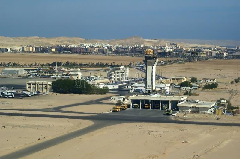 Aeropuerto de Hurghada fotografía de archivo libre de regalías