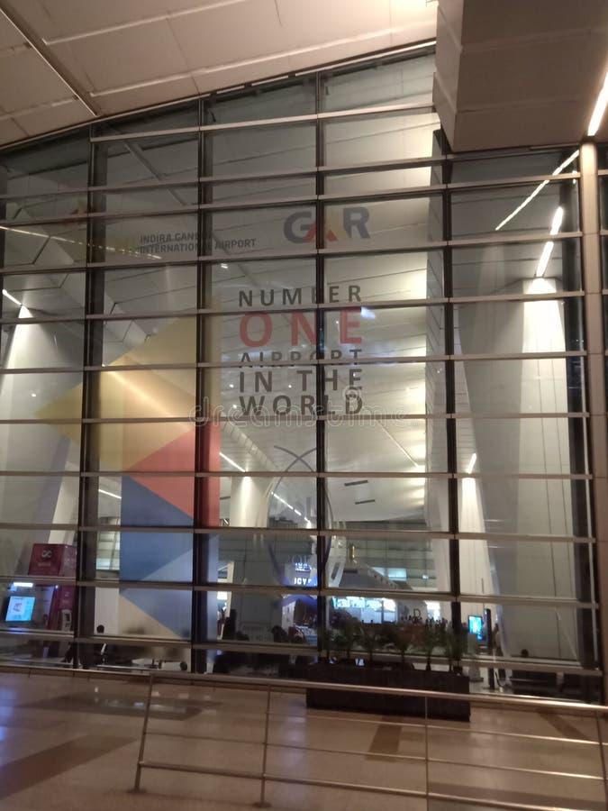 Aeropuerto de IGI, Nueva Deli, no 1 insignia foto de archivo