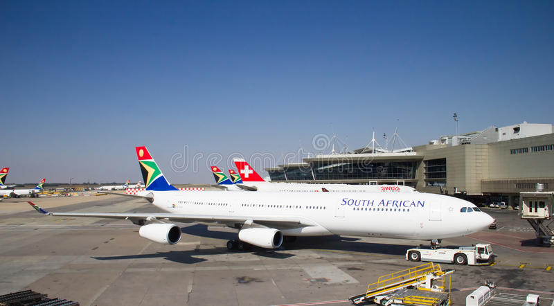 Aeropuerto de Johannesburg Tambo imagen de archivo libre de regalías