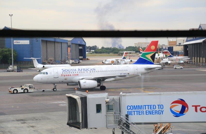 Aeropuerto de Johannesburgo, Suráfrica fotos de archivo libres de regalías
