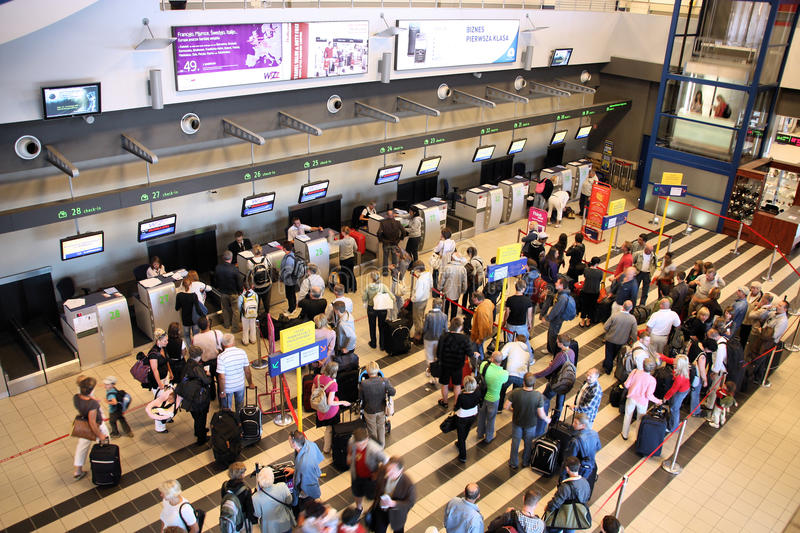 Aeropuerto de Katowice imagenes de archivo