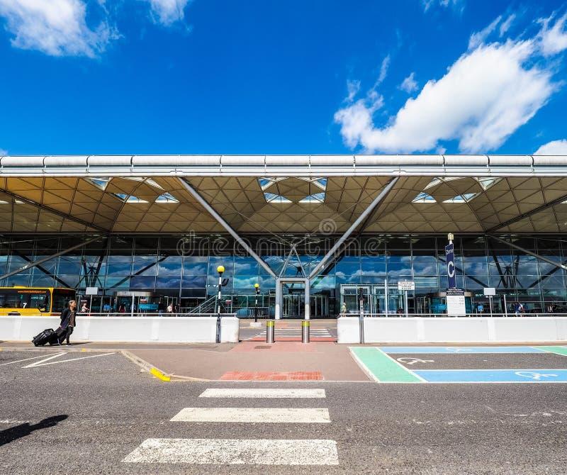 Aeropuerto de Londres Standsted, hdr imagen de archivo libre de regalías
