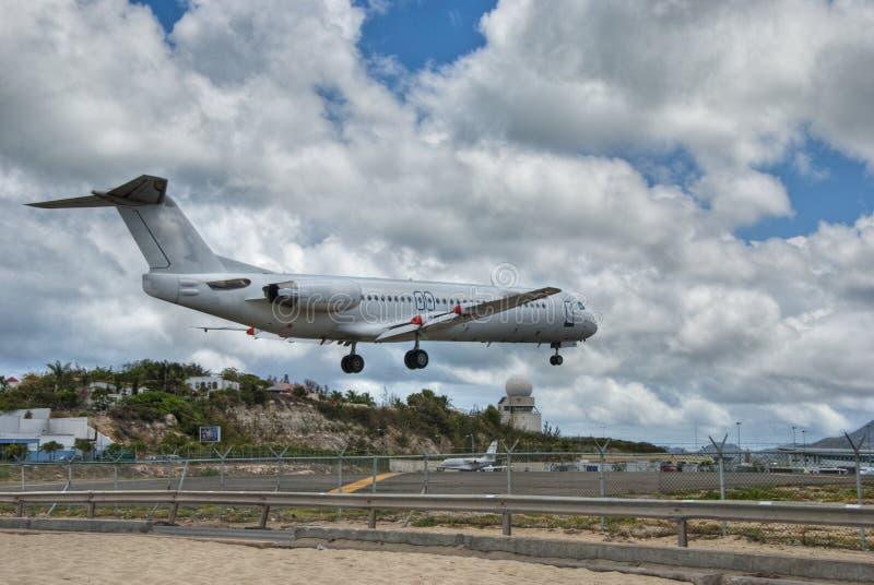 Aeropuerto de Maarten del santo, Antillas holandesas imagenes de archivo