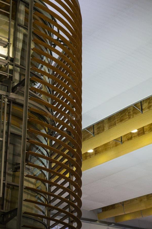 Aeropuerto de Olso, detalle arquitectónico fotos de archivo libres de regalías