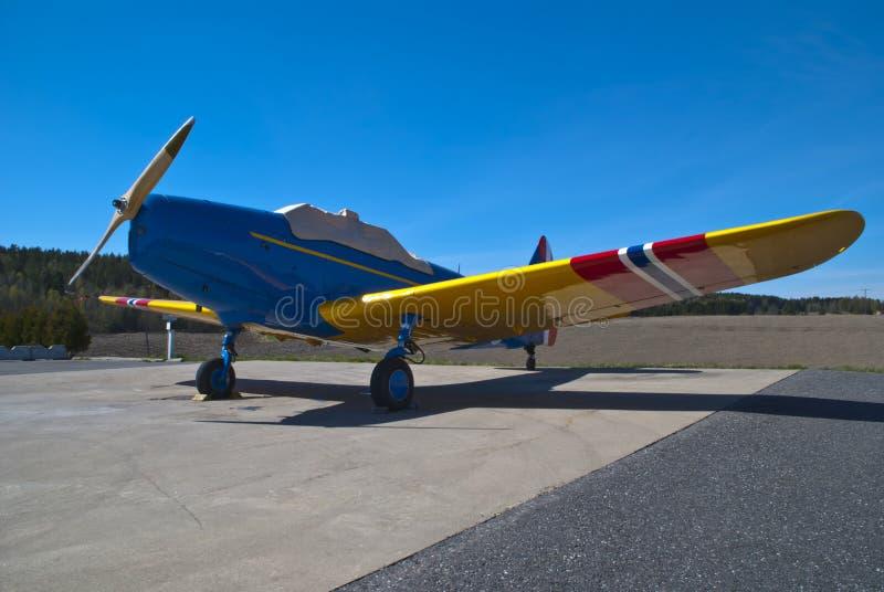 Aeropuerto de Rakkestad, Aastorp (Fairchild PT-19) imagen de archivo libre de regalías