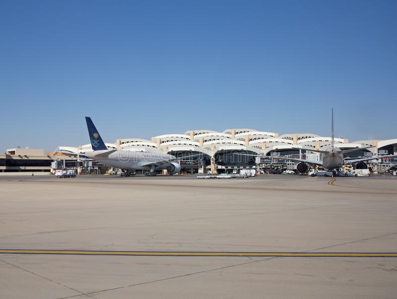 Aeropuerto de Riad foto de archivo libre de regalías