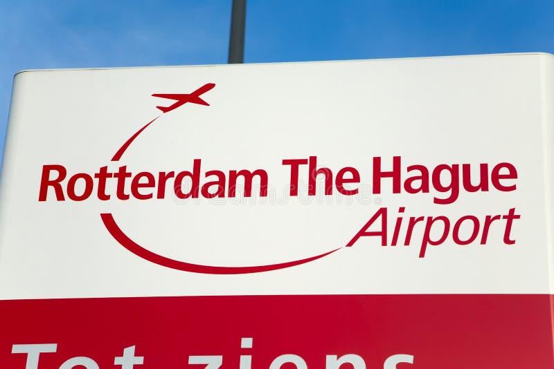 Aeropuerto de Rotterdam La Haya fotografía de archivo