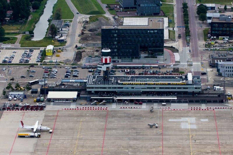 Aeropuerto de Rotterdam La Haya imagen de archivo