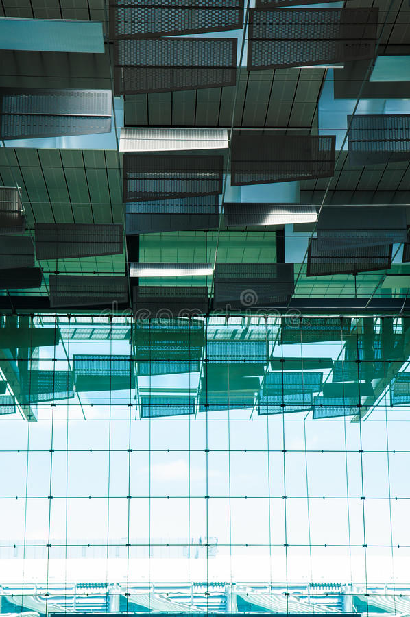 Aeropuerto de Singapur, salida Pasillo fotos de archivo libres de regalías