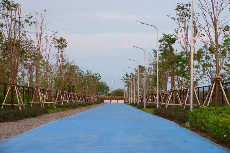 Aeropuerto de Suvarnabhumi, Samut Prakan, Tailandia 17 de febrero de 2019: pista para bicicletas fotografía de archivo libre de regalías
