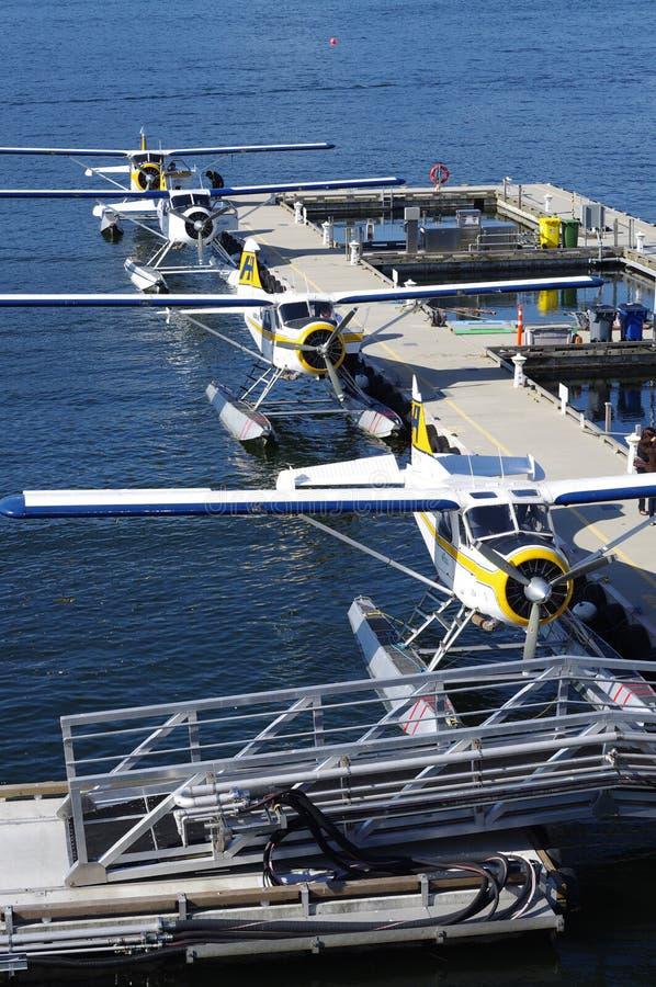 Aeropuerto del agua del puerto de Vancouver imagen de archivo