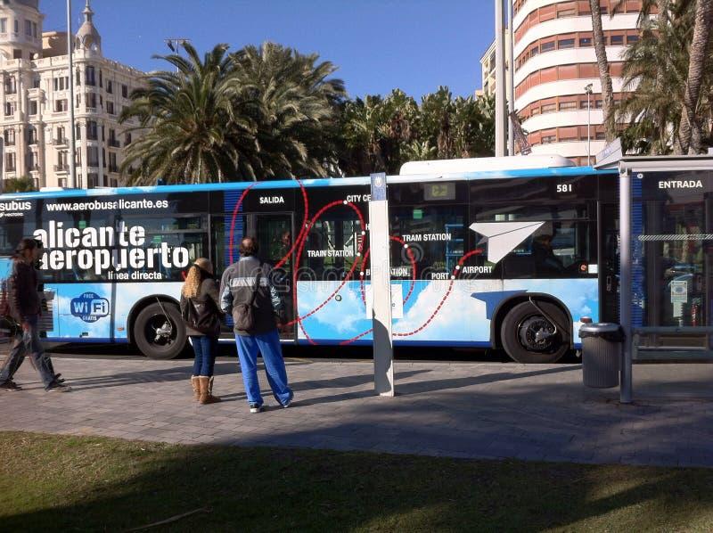 Aeropuerto del autobús de Alicante España imágenes de archivo libres de regalías