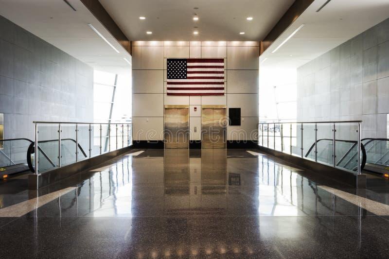 Aeropuerto del metro de Detroit imagenes de archivo