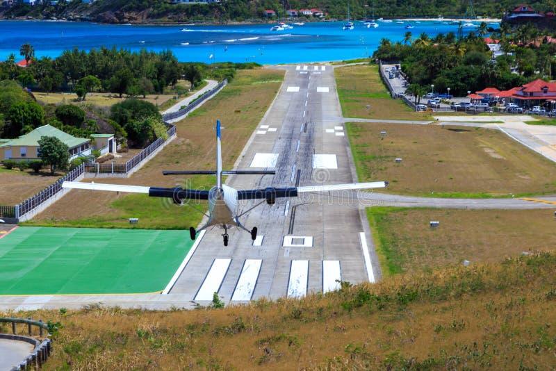 Aeropuerto del St Barth imagenes de archivo