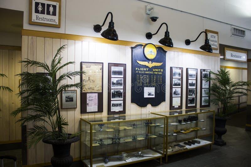 Aeropuerto del viñedo del ` s de Martha, Massachusetts imágenes de archivo libres de regalías