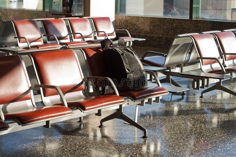Aeropuerto desatendido del equipaje fotos de archivo libres de regalías