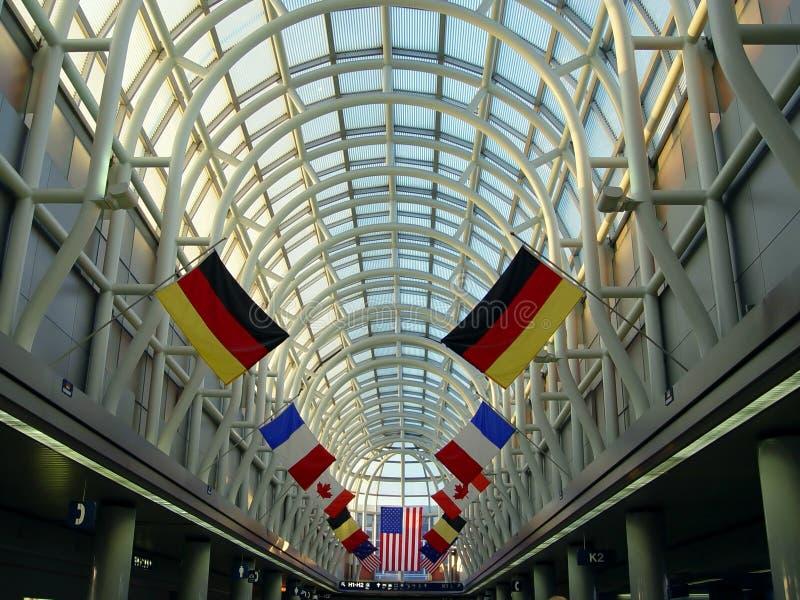 Aeropuerto en Chicago fotografía de archivo libre de regalías