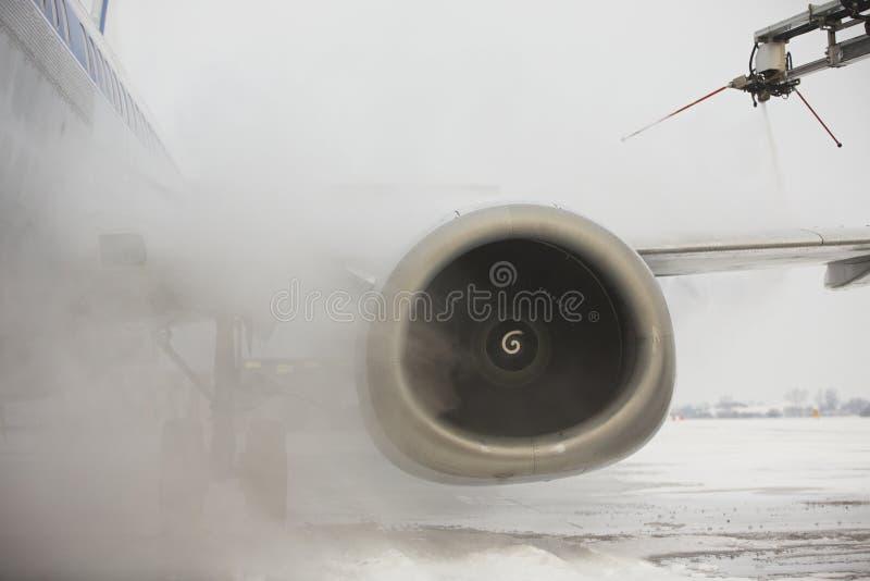 Aeropuerto en invierno foto de archivo libre de regalías
