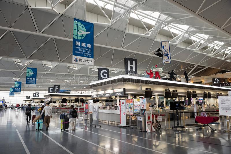 Aeropuerto internacional central de Chubu Japón foto de archivo