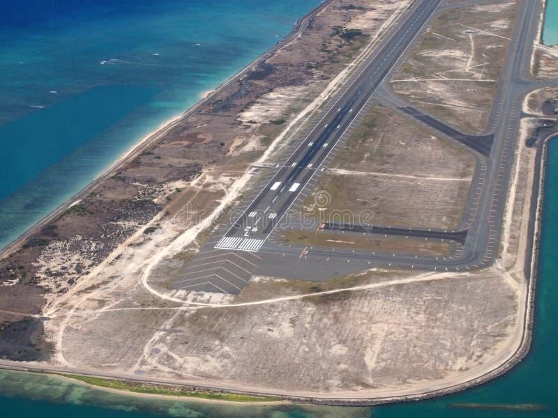 Aeropuerto internacional Coral Runway de Honolulu fotografía de archivo