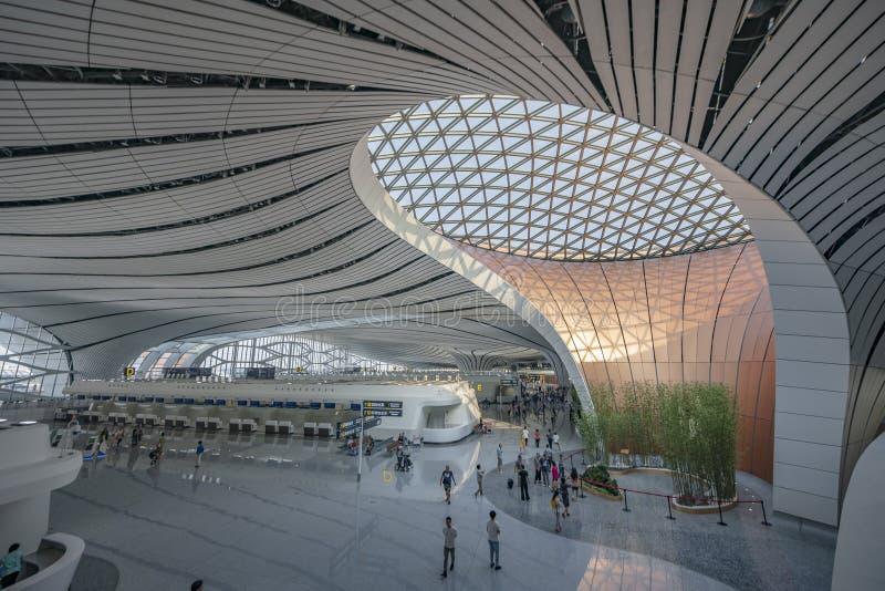Aeropuerto Internacional Daxing de Pekín IATAï ¼ šPKXï ¼ OEICAOï ¼ šZBAD 130 millones de veces por persona el aeropuerto más gran fotos de archivo libres de regalías