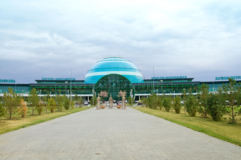Aeropuerto internacional de Astaná fotos de archivo libres de regalías