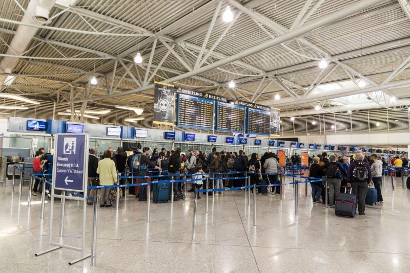 Aeropuerto internacional de Atenas fotos de archivo