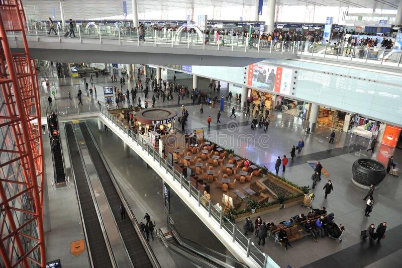 Aeropuerto internacional de capital de Pekín imagen de archivo libre de regalías