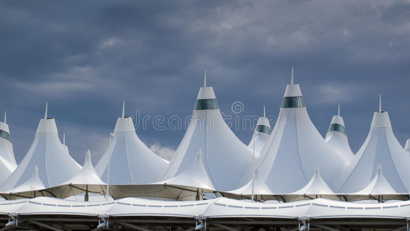 Aeropuerto internacional de Denver foto de archivo