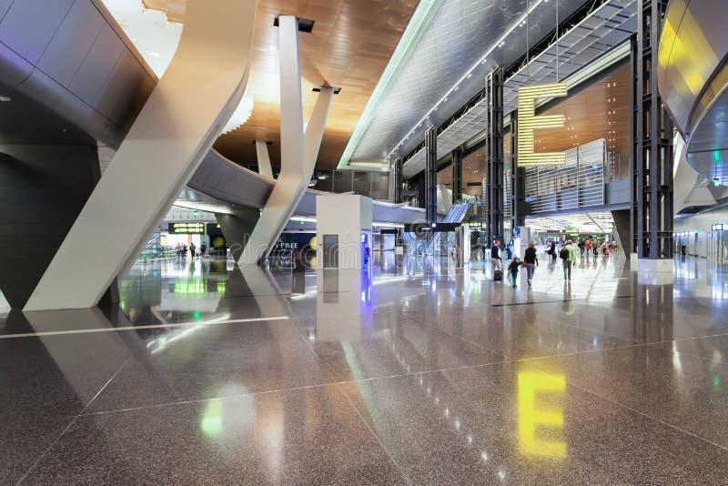 Aeropuerto internacional de Hamad fotos de archivo libres de regalías