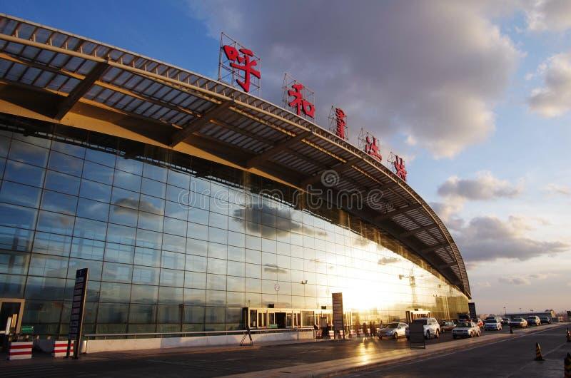 Aeropuerto internacional de Hohhot Baita imágenes de archivo libres de regalías