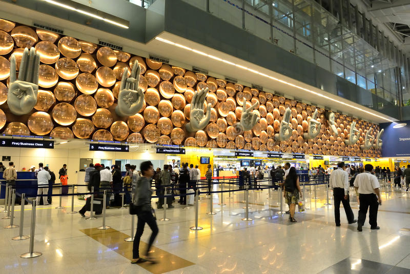 Aeropuerto internacional de Indira Gandhi imagenes de archivo