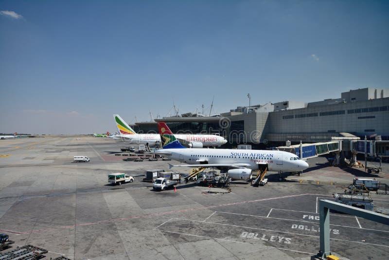 Aeropuerto internacional de Johannesburgo imagen de archivo libre de regalías