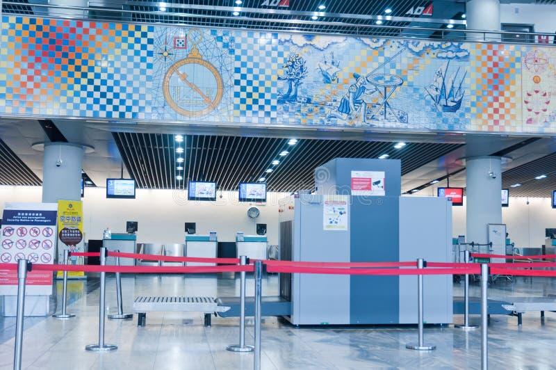 Aeropuerto internacional de Macao foto de archivo libre de regalías
