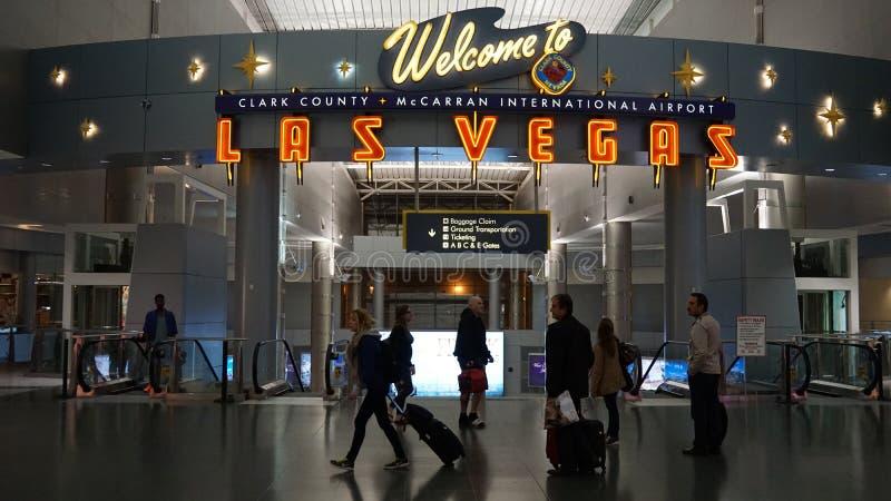 Aeropuerto internacional de McCarran en Las Vegas imagen de archivo