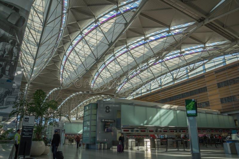 Aeropuerto internacional de San Francisco, California, América imagenes de archivo