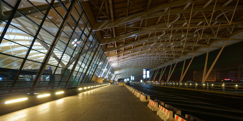 Aeropuerto internacional de Shangai Pudong imagen de archivo